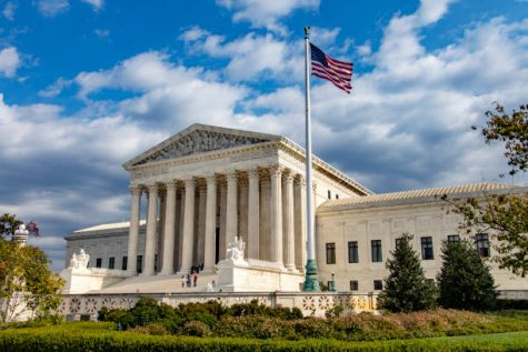 The US Supreme Court building in Washington DC.