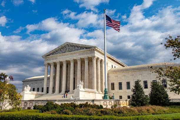 The+US+Supreme+Court+building+in+Washington+DC.+