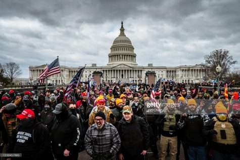 Trumps supporters gathered outside The Capitol on Jan. 6.